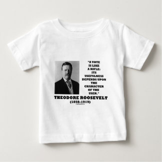 Theodore Roosevelt Vote Is Like A Rifle Character Baby T-Shirt