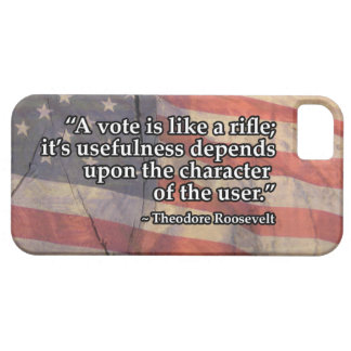 Theodore Roosevelt Vote ~ Rifle Quote iPhone SE/5/5s Case