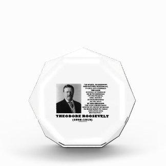 Theodore Roosevelt Waste Destroy Natural Resources Award