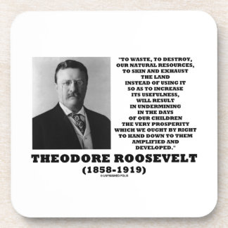 Theodore Roosevelt Waste Destroy Natural Resources Coaster