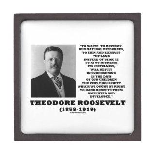 Theodore Roosevelt Waste Destroy Natural Resources Gift Box