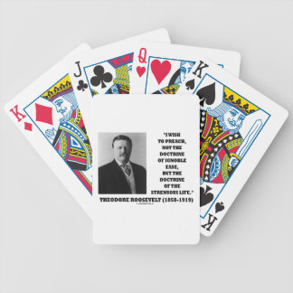 Theodore Roosevelt Wish Doctrine Strenuous Life Bicycle Playing Cards