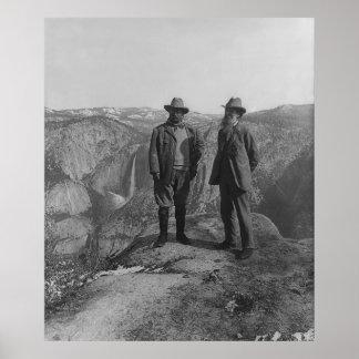 Theodore Roosevelt y John Muir en punto del glacia Impresiones