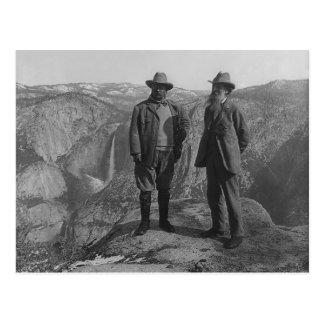 Theodore Roosevelt y John Muir en punto del glacia Postal