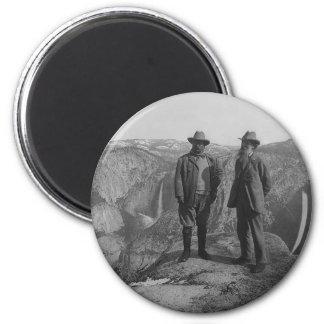 Theodore Roosevelt y John Muir en punto del Imán Redondo 5 Cm