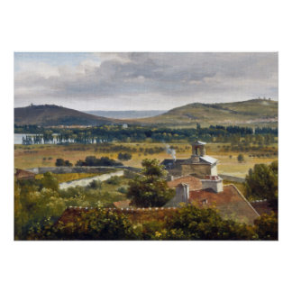 Theodore Rousseau Panoramic View Of Ile-De-France Poster