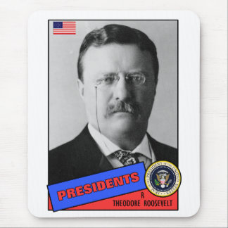 Theodore Teddy Roosevelt Baseball Card Mouse Pad