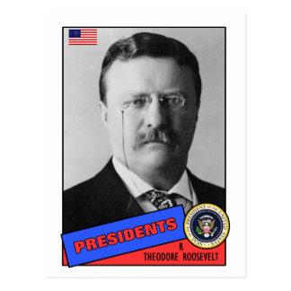 Theodore Teddy Roosevelt Baseball Card Postcard