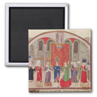 Theological and Cardinal Virtues 2 Inch Square Magnet