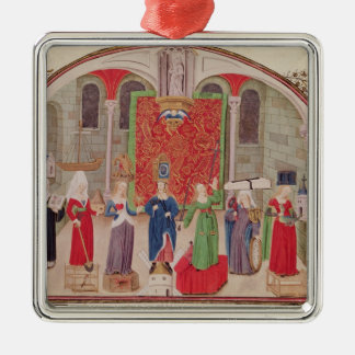 Theological and Cardinal Virtues Metal Ornament