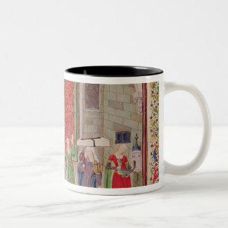 Theological and Cardinal Virtues Two-Tone Coffee Mug