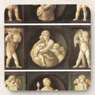 Theological Virtues by Raphael Drink Coaster