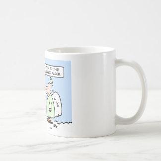 theologically challenged angels coffee mug
