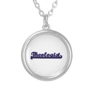 Theologist Classic Job Design Round Pendant Necklace