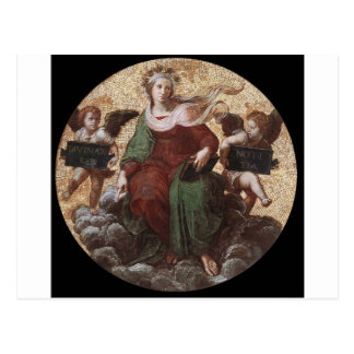 Theology, from the 'Stanza della Segnatura Raphael Postcard
