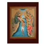 Theophany of Christ Prayer Card Postcard