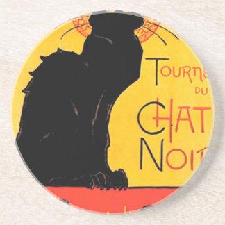 Théophile-Alexandre Steinlen - Tournée du Chat Noi Sandstone Coaster