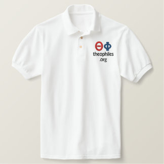 theophiles.org logo embroidered polo shirt