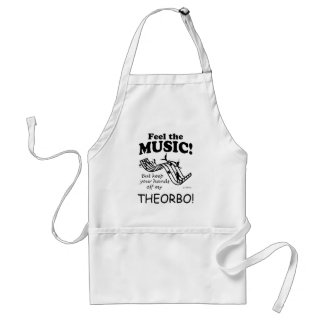 Theorbo Feel The Music Adult Apron
