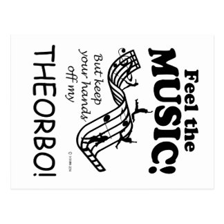 Theorbo Feel The Music Postcard