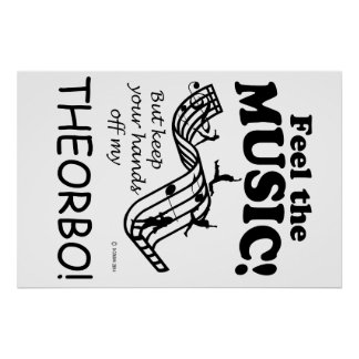Theorbo Feel The Music Poster