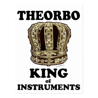 Theorbo King of Instruments Postcard