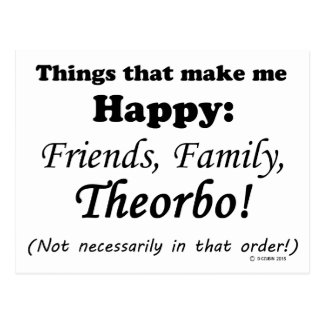 Theorbo Makes Me Happy Postcard
