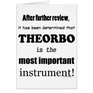Theorbo  Most Important Instrument Card
