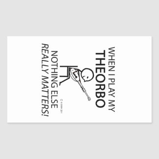 Theorbo Nothing Else Matters Rectangular Sticker