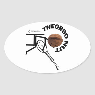 Theorbo Nut Oval Stickers