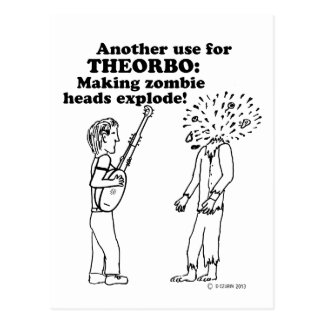 Theorbo Zombie Explode Postcard