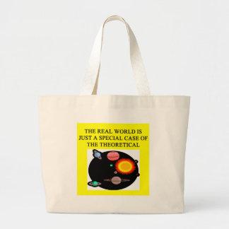 theoretical quantum physics large tote bag