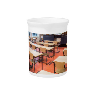 Theory classroom in high school beverage pitcher