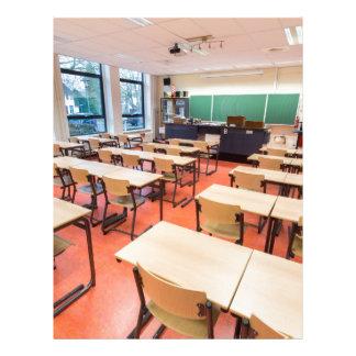 Theory classroom in high school letterhead