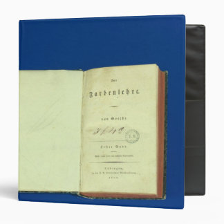 Theory of Colours, 1810 3 Ring Binder