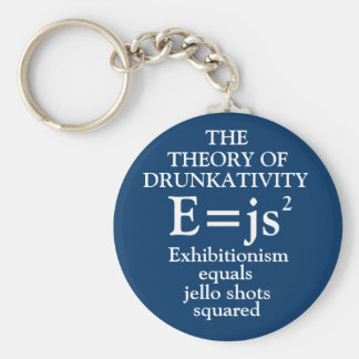 Theory of Drunkativity Keychain
