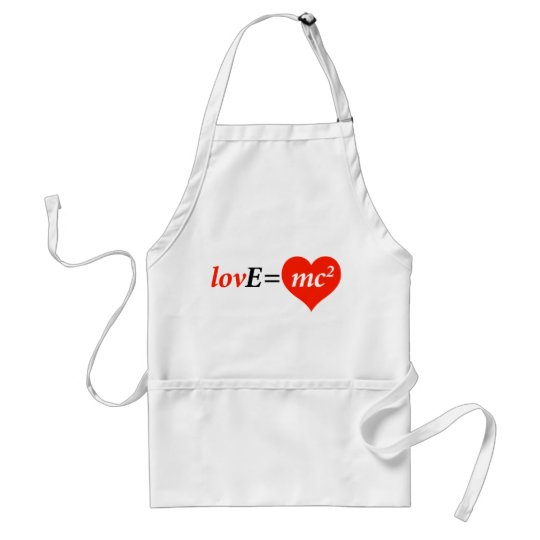 Theory of Love Equation Adult Apron