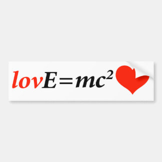 Theory of Love Equation Bumper Sticker