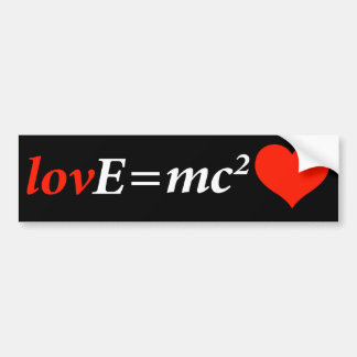 Theory of Love Equation Car Bumper Sticker