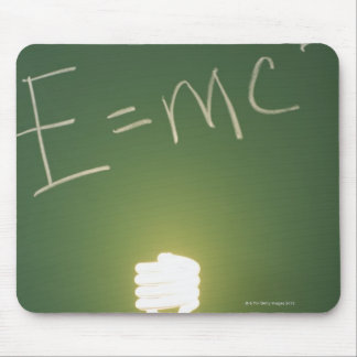 Theory of relativity on blackboard mouse pad