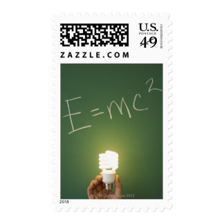 Theory of relativity on blackboard stamps