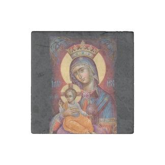 Theotkos Maria que detiene al bebé Jesús Imán De Piedra