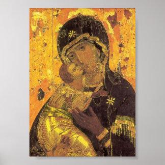Theotokos de Vladimir Póster