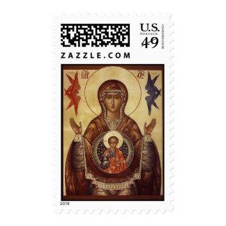 Theotokos del franqueo de la muestra