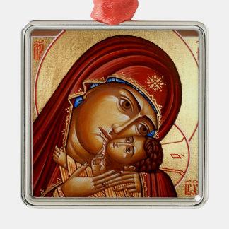 Theotokos Metal Ornament