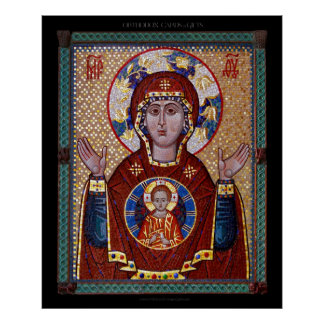 "Theotokos ""of the Sign"" mosaic Icon Posters"