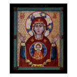 """Theotokos """"of the Sign"""" mosaic Icon Posters"""
