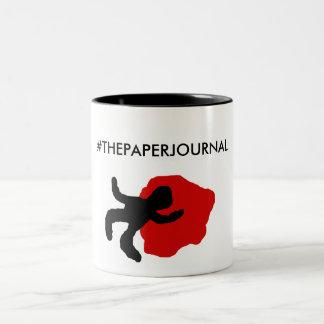 #THEPAPERJOURNAL 11 oz. Two-tone B&W Mug