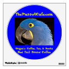 TheParrotCafe.com Red Tail Brand Coffee Decal