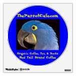 TheParrotCafe.com Red Tail Brand Coffee Decal Wall Skins
